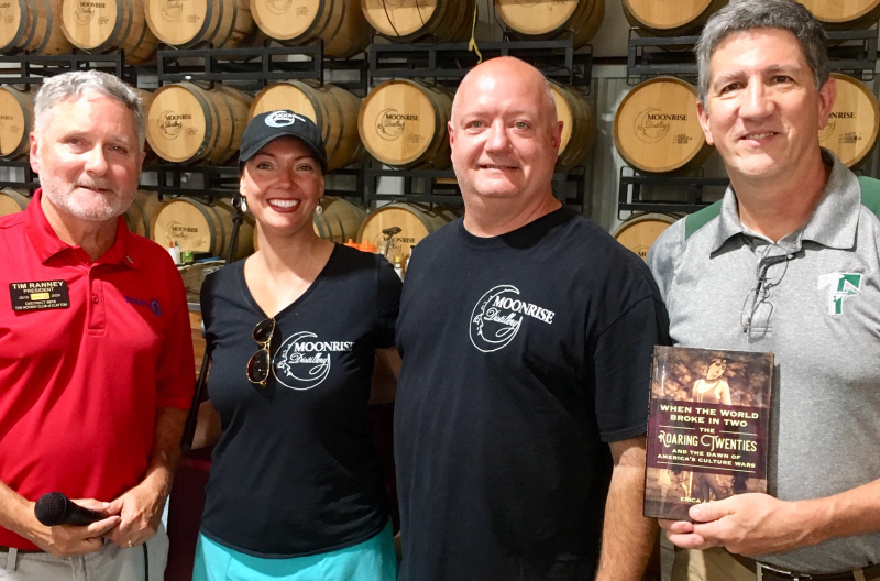 Doug and Jen Naussar, the owners of Moonrise Distillery Book Presentation